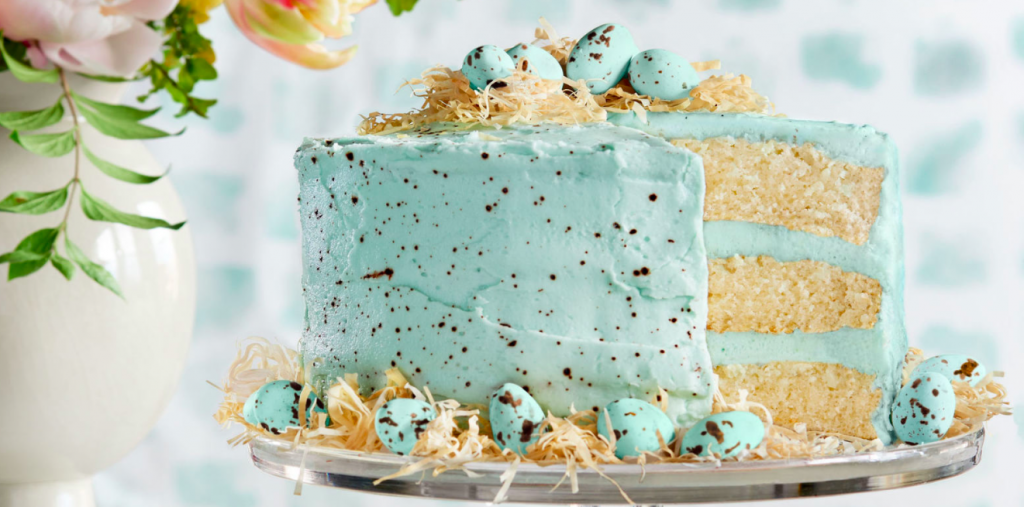 The Speckled Malted Coconut Easter Cake
